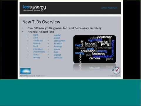 Lexsynergy Webinar Series - Banking on .Bank