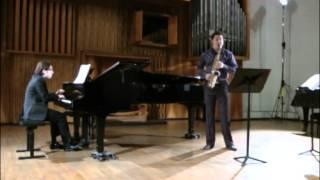 Pierre Sancan Lamento et Rondo, Lev Pupis alto saxophone, Jan Sever piano
