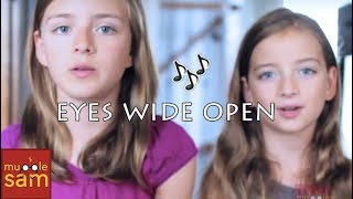 EYES WIDE OPEN - SABRINA CARPENTER | 10-Year-Old Bella and 12-Year-old Sophia