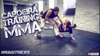 Capoeira for MMA, training day, coordination, low, footwork, kicks, takedowns