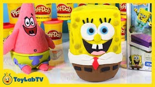 Giant Spongebob Sponge Out of Water Play Doh Surprise Egg, Toys, Mega Bloks, Blind Bags & Patrick