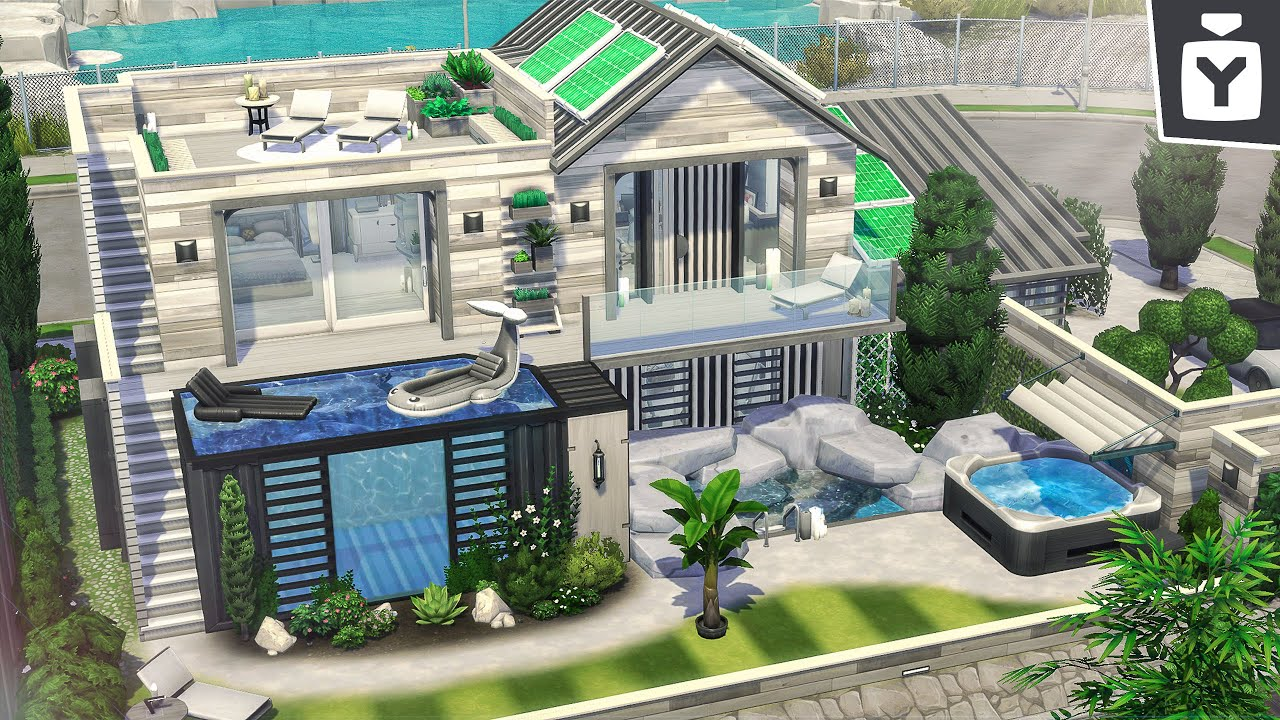 ECO DREAM HOUSE 🐋 The Sims 4: Eco Lifestyle | Speed Build 🏡