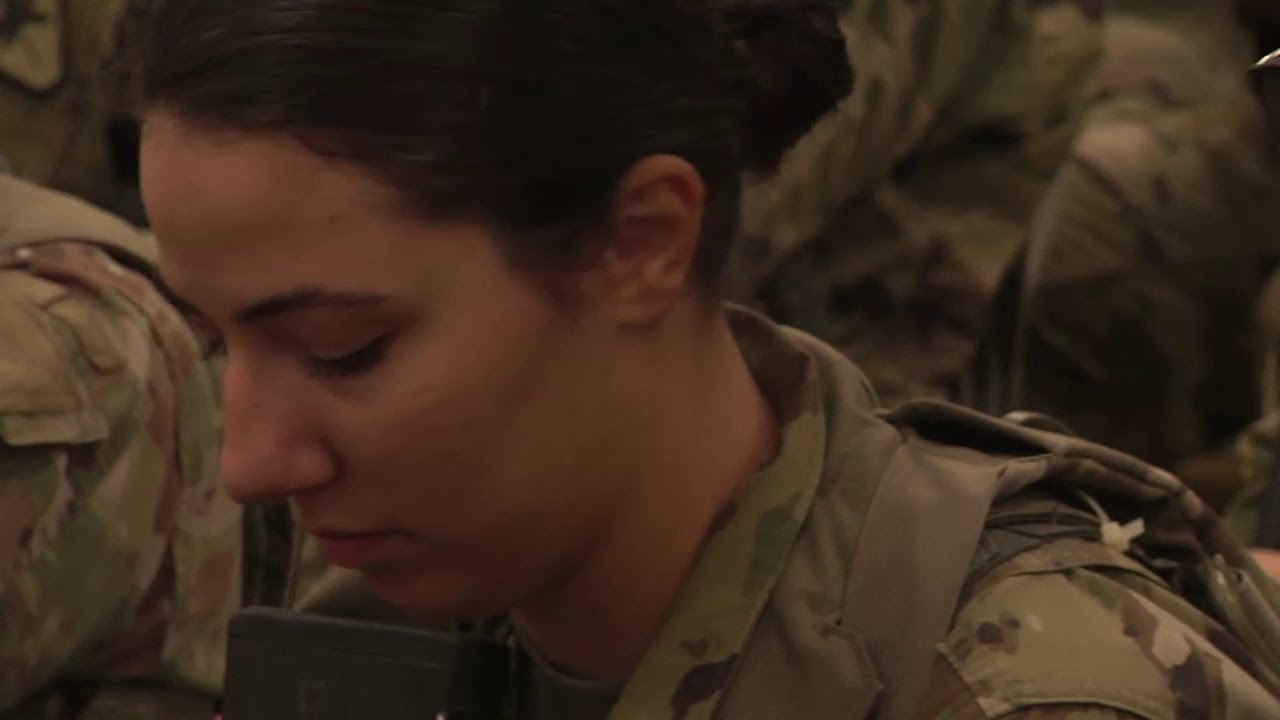 Pfc. Teresa French, a paralegal with the U.S. Army Reserve's 368th Engineer Battalion in Londonderry, New Hampshire, speaks about being the first female in her family to join the Army during the Army Reserve's 2019 Paralegal Warrior Training Course at Fort McCoy, Wisconsin. Paralegal Warrior gives Army Reserve and National Guard paralegal Soldiers a chance to hone their job skills. The two-week course is held annually in July.