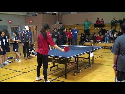 20180201 PSAL Girls Team Finals - 1st Singles - Table Tennis