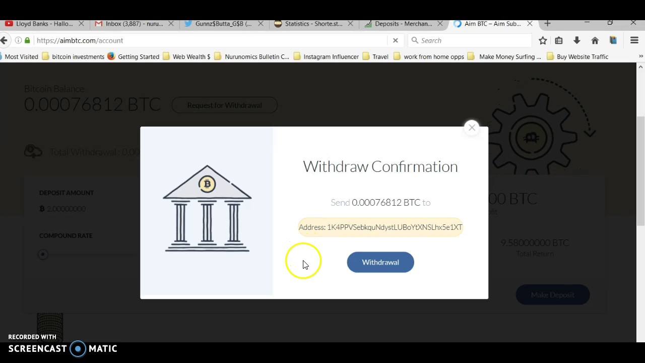 Bitcoin Mining INSTANT withdrawal Proof!!