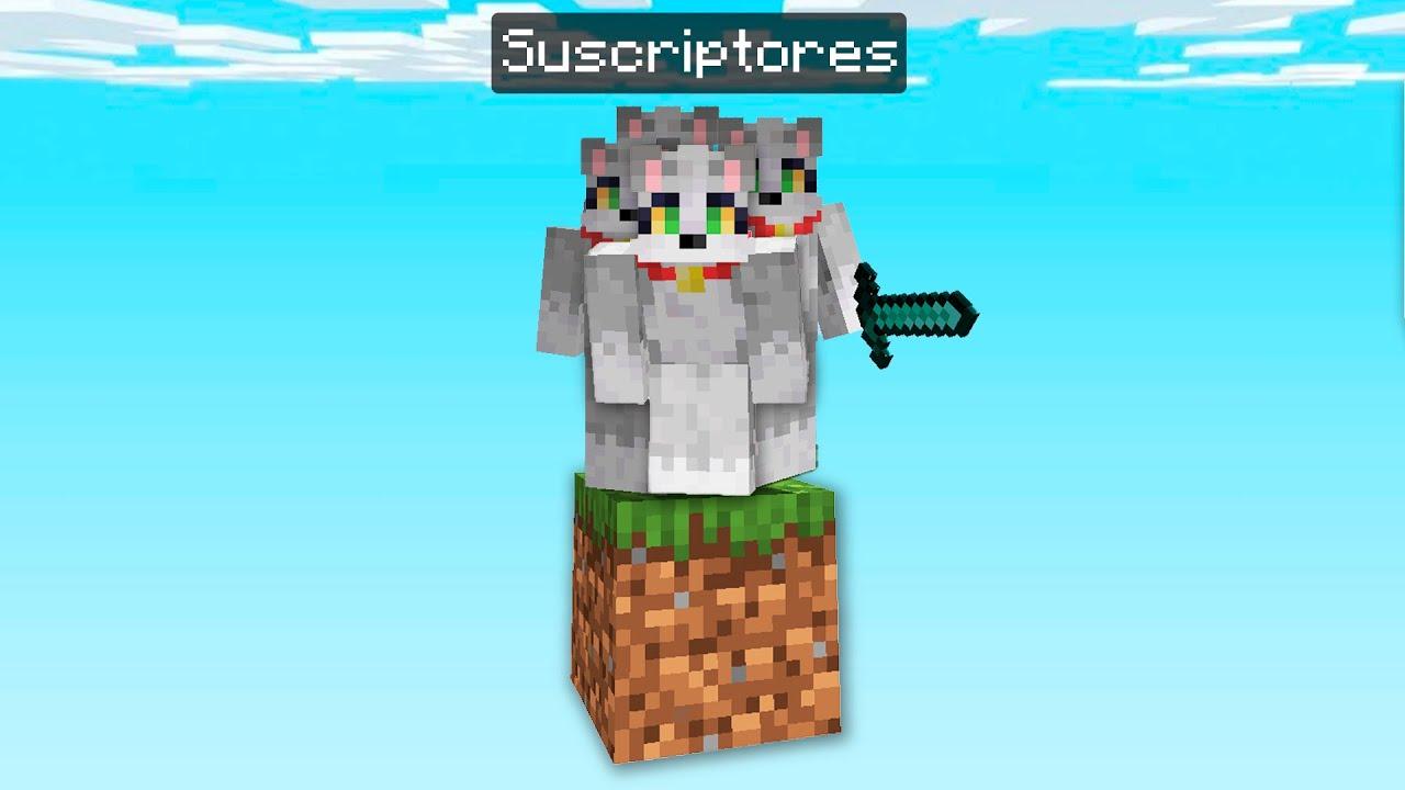 Minecraft en 1 BLOQUE pero CON SUSCRIPTORES 🐱😂 ONEBLOCK VICNIX