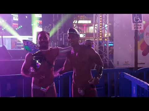 Gran Canaria Maspalomas Freedom party gogo dancers gaypride edition