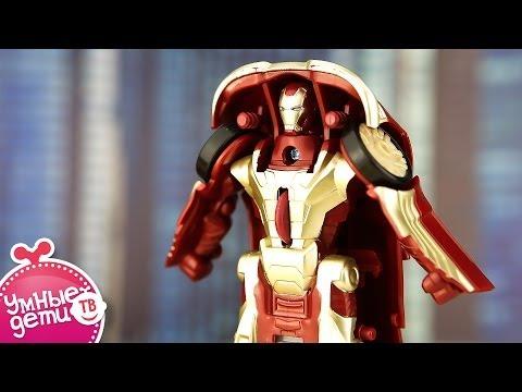 Трансформер Iron Man от Hasbro. Трансформируется в машинку. Marvel, фильм Iron Man3.