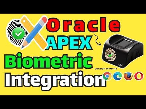 Oracle APEX Biometric Registration and Authentication App Demo