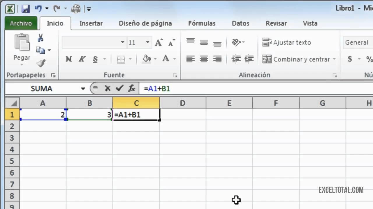 Barras de Menu de Excel la Barra de Fórmulas Excel