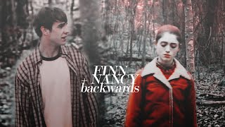 finn nelson x nancy wheeler   backwards