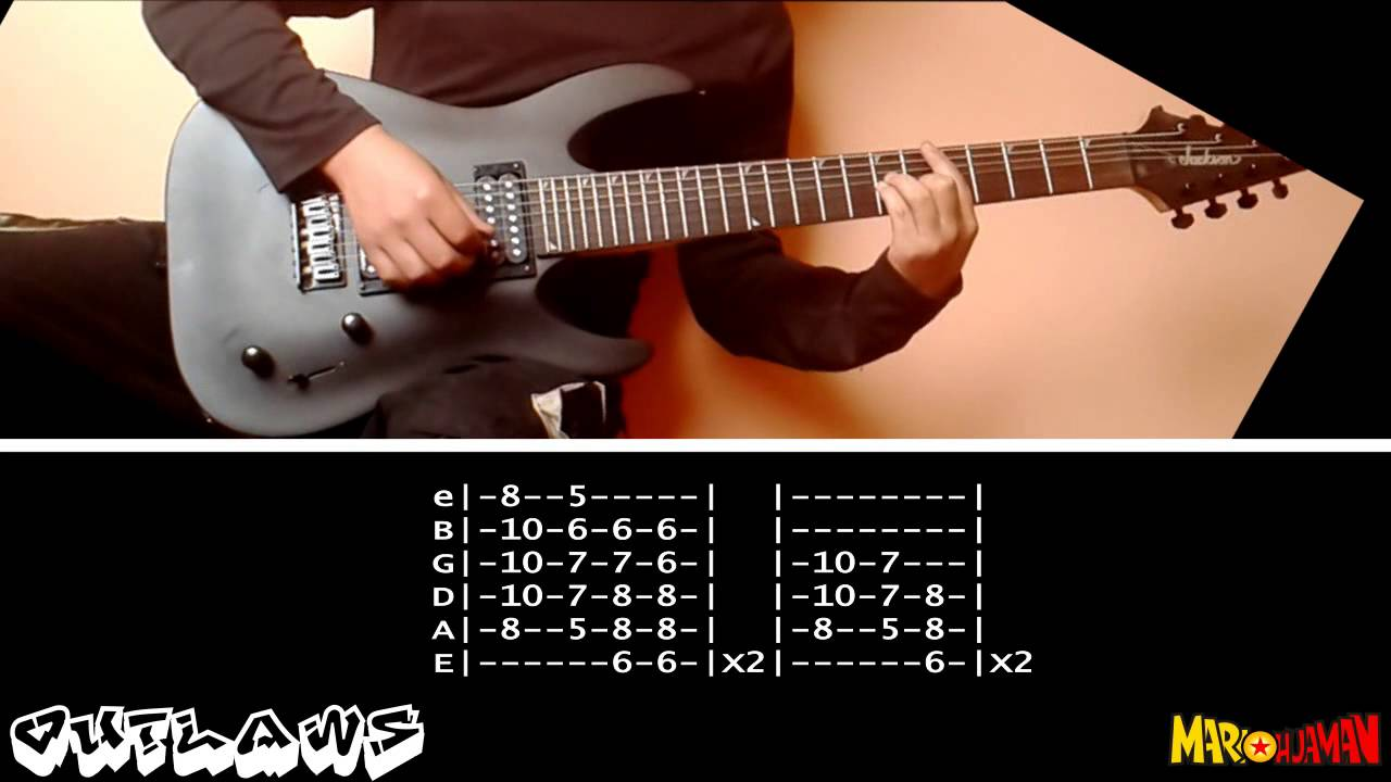 Green Day Outlaws Guitar Cover Tabs Youtube