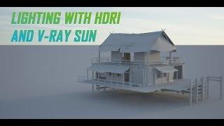 Lighting with HDRI and V-Ray Sun