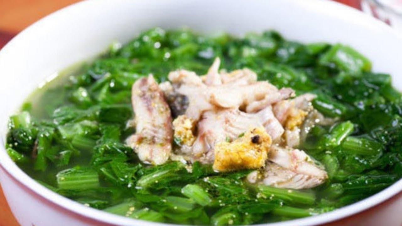 Canh Cá rô đồng rau cải bẹ xanh• thơm ngọt không tanh.