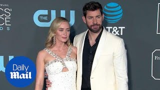 John Krasinski and Emily Blunt are matching at Critics' Choice