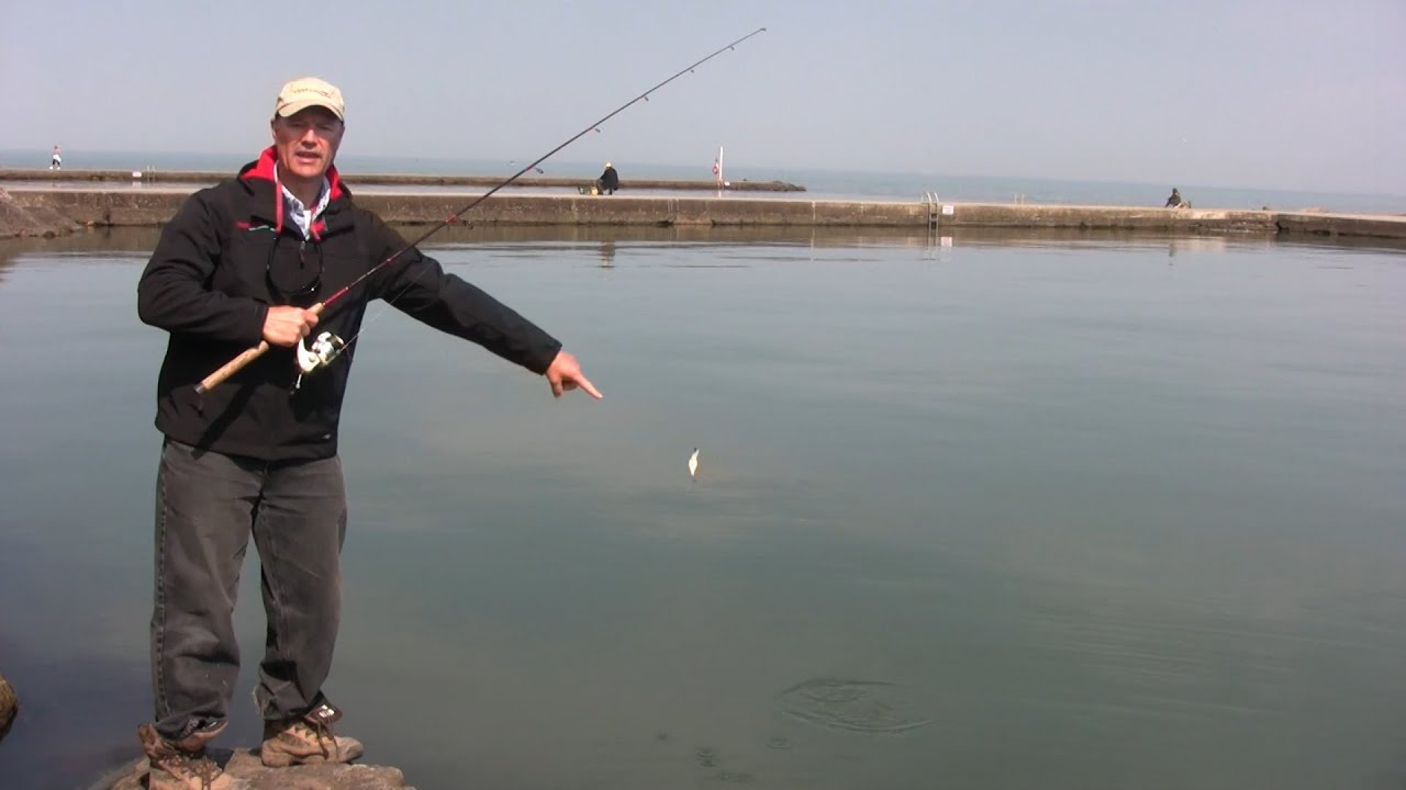 Boatless angler shore fishing casting techniques doovi for Bass fishing from shore