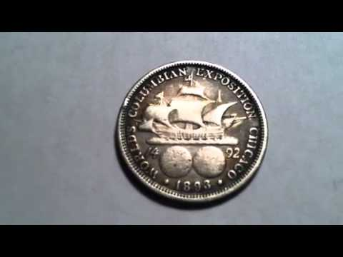 1893 Colombian Exposition Half Dollar 90 Percent Silver