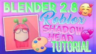 BLENDER 2.8 ROBLOX SHADOW HEAD TUTORIAL || How to make a Shadow Head Profile Picture 2019