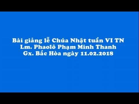 Bài giảng Chúa nhật Tuần VI TN năm B_ Lm  Phaolô Phạm Minh Thanh