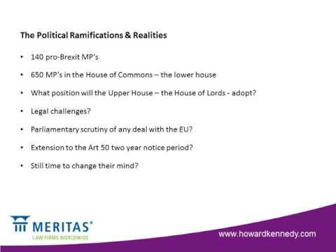 Meritas Capability Webinar - Brexit The Constitutional Legal Hurdles to leaving the EU