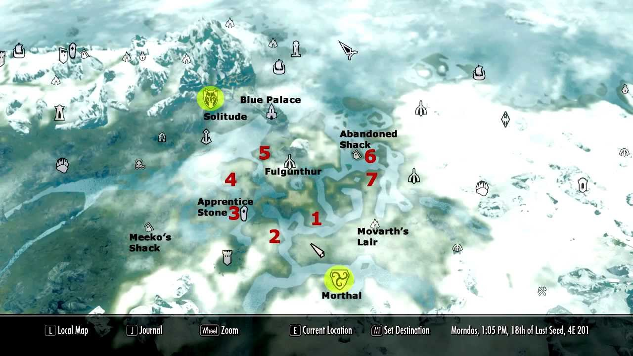 Skyrim Unmarked Locations The Swamp Circle YouTube - Unmarked map