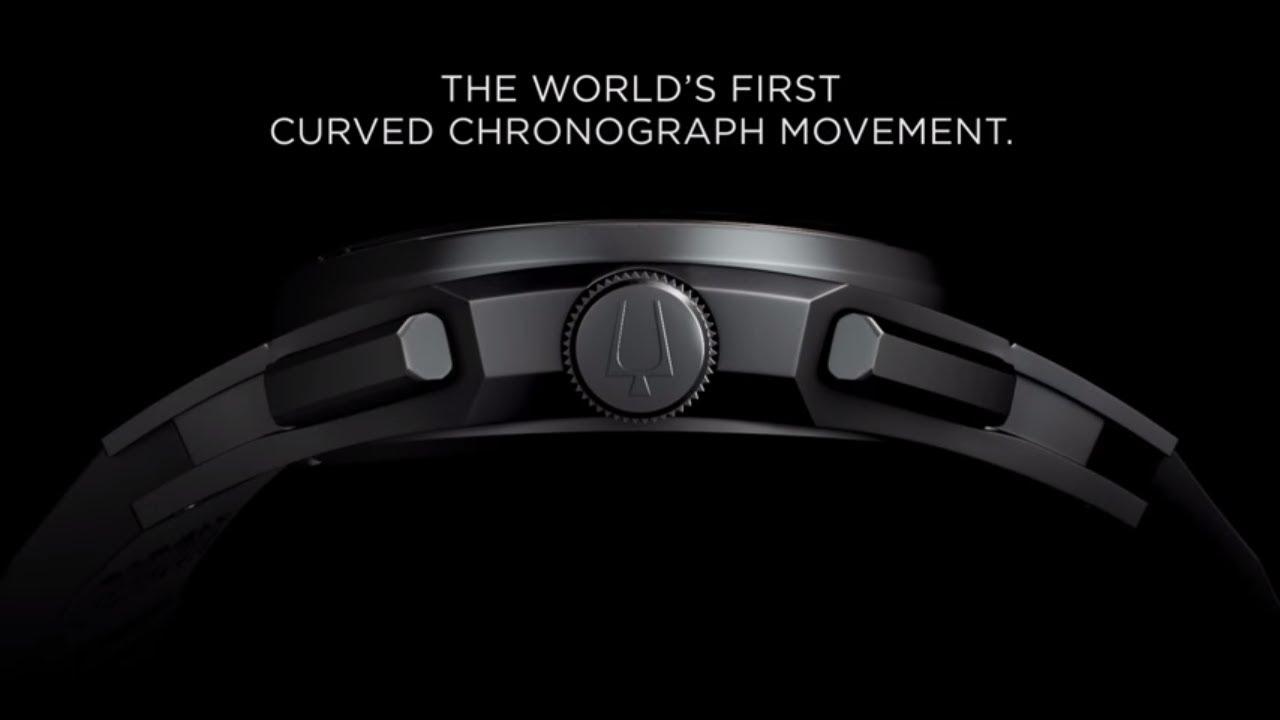 3e5f2b173 BULOVA CURV 15sec - The World's First Curved Chronograph Movement. Bulova  Watches