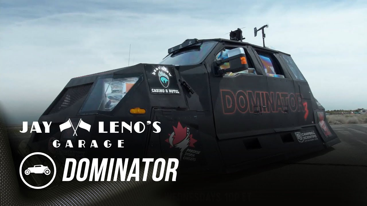 """Download Jay Leno Puts Storm-Chaser Reed Timmer's """"Dominator"""" Stormproof Vehicle To The Test"""