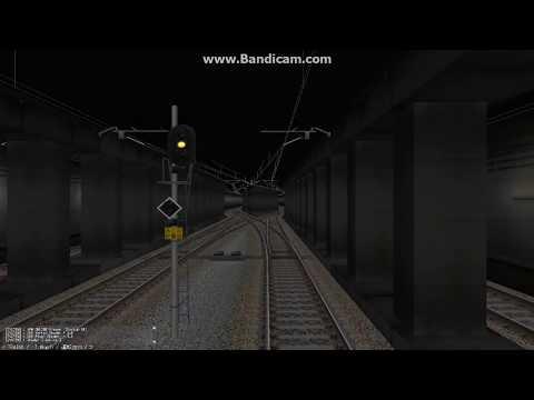 鉄道模型シミュレーター 地下留置線→回送 前面展望