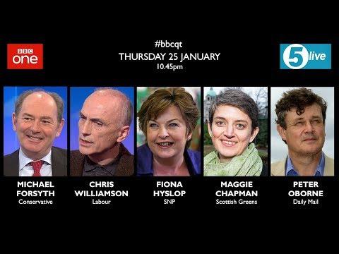 Question Time 25/1/18: NHS crisis, Presidents Club, Labour extremists, Donald Trump's Brexit, Banks