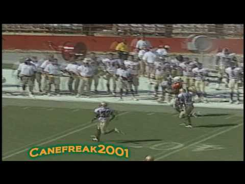 2002 Willis McGahee Screen Pass - Miami vs Florida State