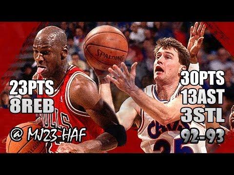 Michael Jordan Vs Mark Price Highlights Bulls Vs Cavs (1993.01.06)-53pts All,MJ Got His ASS KICKED!