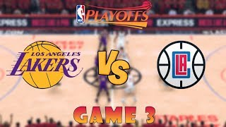 Los Angeles Clippers vs. Los Angeles Lakers - Game 3 - Conf. Finals - 2020 NBA Playoffs! - NBA 2K20