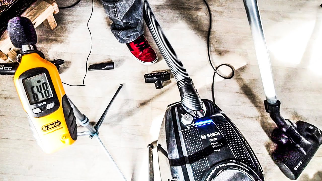 Bosch Silent Vacuum Cleaner REVIEW + NOISE TESTS | GS 50 ProSilence 66  Power Silence 2 BGS5SIL2GB