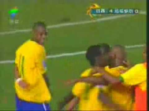 Robinho in Brazil vs Ecuador