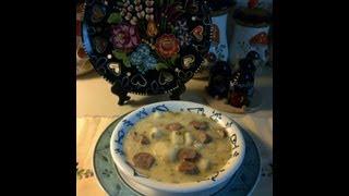 Hungarian Creamy Potato Soup With Smoked Sausage /  TejfÖlÖs Krumplileves FÜstÖlt KolbÁszal