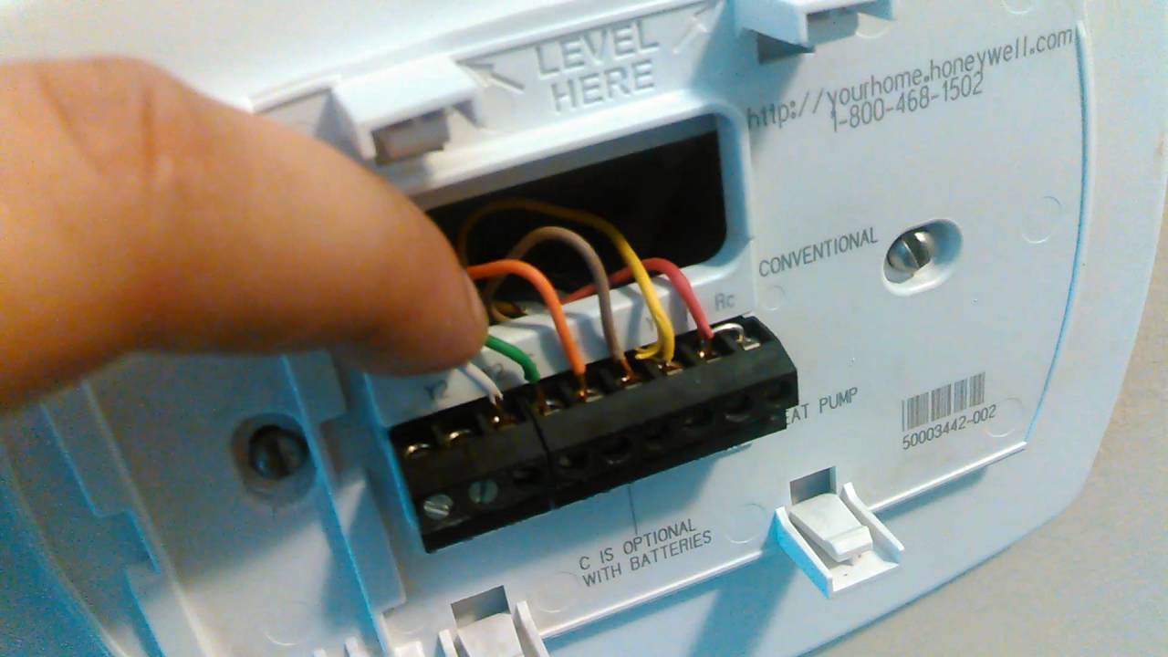 maxresdefault going over the honeywell 5000 pro thermostat youtube honeywell thermostat th5220d1003 wiring diagram at n-0.co