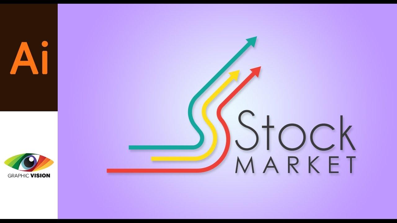 how to create stock market logo in illustrator youtube