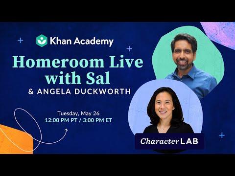 Homeroom Live with Sal & Angela Duckworth - Tuesday, May 26