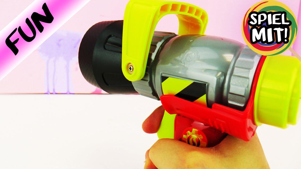 Weit Spritzen wasserpistole feuerwehrmann sam wie weit können wir