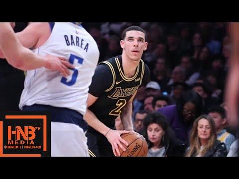 Lonzo Ball (9 pts, 7 reb, 6 ast) Highlights vs Mavericks / Feb 23 / 2017-18 NBA Season
