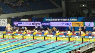 JAPAN SWIM 2017 / 男子400m自由形 決勝 天井翼 検索動画 6