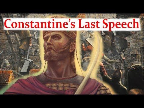 Constantine XI's Last Speech