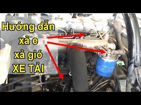 Hướng dẫn xả e (xả gió) động cơ dầu trên xe tải