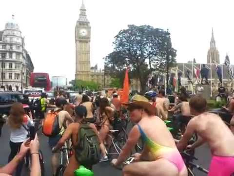 London naked bike ride 2015, Westminster
