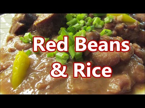 Quintessential New Orleans red beans & rice