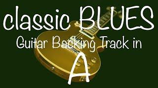 Classic Blues Shuffle Guitar Backing Track in A