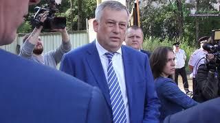 """Губернатор Дрозденко на стройке ЖК """"Карат"""""""