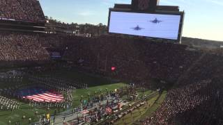 2015 iron bowl national anthem and f 16 flyover
