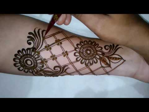 latest mordern bridal henna mehndi design for full hands | 2017