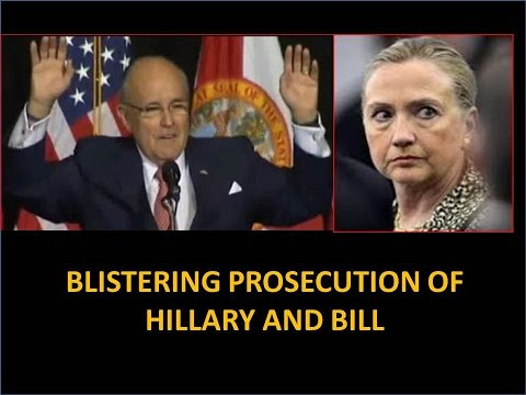 Hillary's Toast! Giuliani Gives The Most Devastating Prosecution Of Hillary And Bill Clinton Ever!